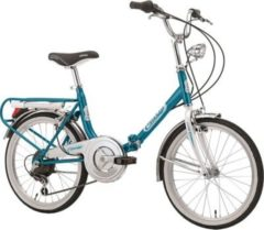 Cicli Cinzia 20 ZOLL CINZIA FIRENZE KLAPPFAHRRAD 6-GANG Klapprad blau-weiß