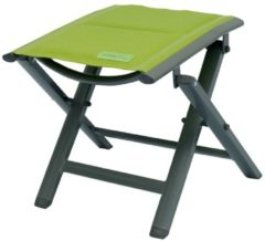 Luxus Fußhocker gepolstert mit Quick Dry Foam Garten Aluhocker Gartenmöbel Sitzhocker Camping Hocker Meerweh grün