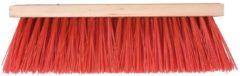 Talen Tools - Bezem - Kunststof - Rood - 41 cm - Zonder steel