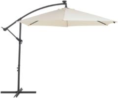 Beliani Parasol met LED-verlichting en zonnepaneel beige CORVAL