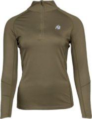 Donkergroene Gorilla Wear Melissa Longsleeve - Army groen - XS