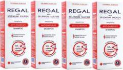 Rosa Impex 4 x REGAL VERSTERKENDE ANTI-ROOS Shampoo met Selenium Sulfide voor Normale -en Droge Haar Set4 800ml