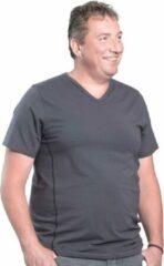Alca Fashion 3XL 2pack T-shirt heren V-hals grijs | Grote maten V-hals T-shirt | Buikmaat 129 -137 cm buikomvang | XXXL