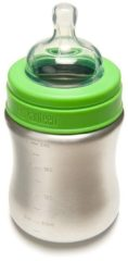 Klean Kanteen Kid Kanteen Baby Bottle Drinkfles Medium Flow 267ml groen/zilver