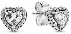 Pandora 298427C01 Oorbellen Elevated Heart zilver