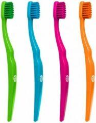 Biobrush Briobrush ecologische kindertandenborstel - 4 stuks - paars, oranje, blauw en groen