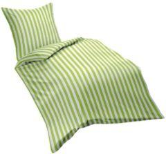 Bettwäsche Streifen grün Fleuresse grün