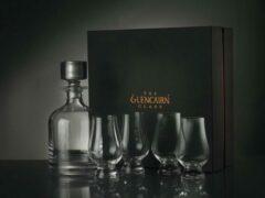 Transparante Glencairn Crystal Schitterende Glencairn Whiskyset | Decanter /Karaf en 4x Whiskyglas | Kristal | Handgemaakt in Schotland | Geschenkverpakking