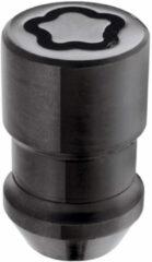 Universeel McGard Slotmoerenset M12x1.50 Zwart - Konisch - Lengte 37.0mm (19mm kop)
