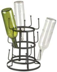 Zwarte Esschert design Mokkenboom of Droogrek voor flessen - de flessenegel