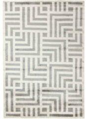 MOMO Rugs - Cosmou Avenue Vloerkleed - 200x300 cm - Rechthoekig - Laagpolig Tapijt - Retro, Scandinavisch - Beige, Grijs