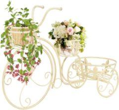 Witte 5 days Plantenstandaard fietsvorm vintage stijl metaal