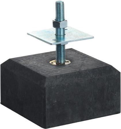 Afbeelding van Woodvision Betontegel met facetrand | 18 x 18 cm voor paal 14-15 cm | Inclusief stelplaat