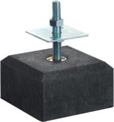 Woodvision Betontegel met facetrand | 18 x 18 cm voor paal 14-15 cm | Inclusief stelplaat