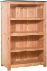 Bruine Koopjetuinspul Woodvision - Buitenkeuken element dubbel 90 incl. deuren - Douglas - 90x109x56 cm
