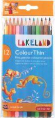 Derwent Lakeland kleurpotlood Colourthin, blister van 12 stuks in geassorteerde kleuren