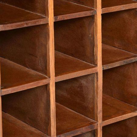 Afbeelding van VidaXL Wijnrek voor 16 flessen massief gerecycled hout
