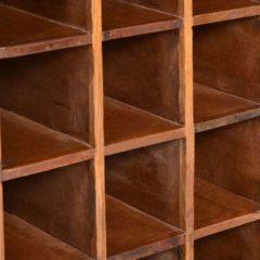 Bruine Vidaxl Wijnrek Voor 16 Flessen Massief Gerecycled Hout