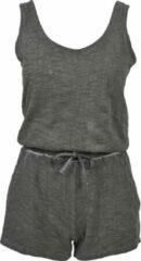 Grijze Urban classics Cold Dye Short Suit Beachwear - Casual - Sportief - Modern - Streetwear Dames Jumpsuit Maat M