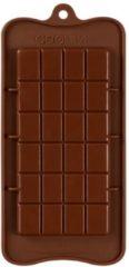 Bruine Kitchen Princess - Siliconen Chocoladevorm Reep Groot - Chocolade Mal Fondant Bonbonvorm