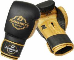 Zwarte Dynamite Fight Gear Dynamite Kickboxing Bokshandschoenen - Echt Leer 16 OZ