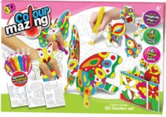 Colormazing Colourmazing - 3D Tuinset - 6 tover-inktpennen inbegrepen