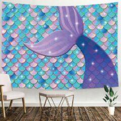 Paarse Ulticool - Zeemeermin Staart Schubben - Wandkleed Deken - 200x150 cm - Groot wandtapijt - Poster