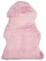 Beliani ULURU - Schapenvacht - Roze
