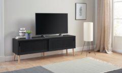 Andas Lowboard «Scala», Breite 158 cm, mit 2 Schiebetüren und lackierter Topplatte