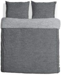 Walra Casual Beauty dekbedovertrek - 100% gebreide katoen - Lits-jumeaux (240x200/220 cm + 2 slopen) - Grijs