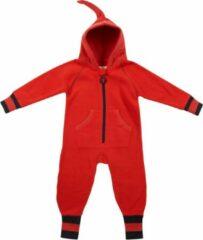 Ducksday - Kid's Fleece Suit II - Overall maat 74-80, rood