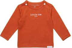 Antraciet-grijze Noppies Unisex Shirt Hester met tekst - Charcoal - Maat 74