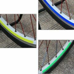 WiseGoods - Premium Fiets Reflector Stickers Geel - Velg Sticker Fietsbanden - Reflecterende Veiligheidssticker Fietsbanden - Geel