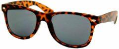 Twinklerz Wayfarer Zonnebril Tortoise Panter Bruin - Donkere Zwarte Glazen - UV 400