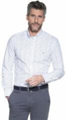 Witte Campbell Casual overhemd met lange mouwen