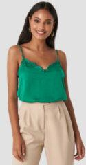 Groene Rut&Circle Stine Lace Singlet - Green