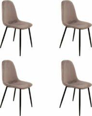 Grijze PoleWolf - Blossom chair - Velvet - Grey - Promotion - Set of 4
