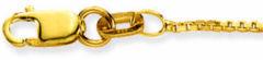 Glow Gouden Ketting Venetiaans 38 cm 0.9 mm breed 201.1138.27