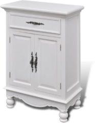VidaXL Kastje met 2 deurtjes en 1 lade wit hout VDXL 241375