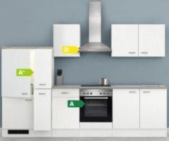 Flex-Well Küchenzeile G-300-2504 + Haube 6091 Wito 300 cm