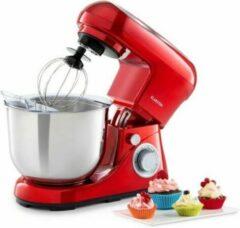 Rode Klarstein Bella Pico 2G keukenmachine 1200W 1,6PS 6 standen 5 liter