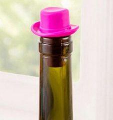 Leukste Winkeltje Flessenstop - Roze - hoed wijnstopper