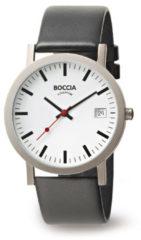 Boccia Titanium 3622.01 horloge Leer Zwa Heren