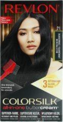 Blauwe Revlon Luxurious Colorsilk Buttercream Hair Color 126.8ml - 21/12BB Blue Black