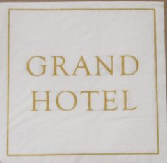 Gouden Ppd Servetten Grand Hotel 33 x 33 cm