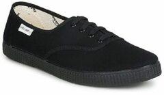 Zwarte Lage Sneakers Victoria INGLESA LONA PISO