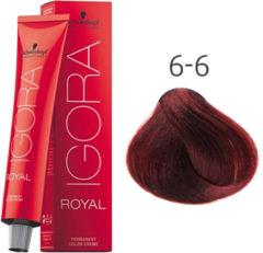 Rode Schwarzkopf Professional Schwarzkopf - Igora - Royal - 6-6 Donkerblond Roodbruin - 60 ml