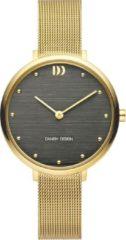 Gouden Danish Design watches edelstalen dameshorloge Amelia Gold Grey Bark IV08Q1218
