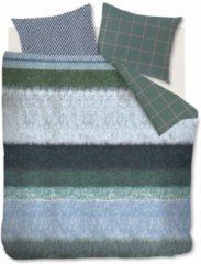 Oilily Winter Mood Dekbedovertrek - 1-persoons (140x200/220 Cm + 1 Sloop) - Katoen Satijn - Blauw Groen