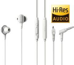 Tuddrom H3 Wit - Hi-Res In Ear Oordopjes met Microfoon - Dual High Quality Dynamic Drivers - 2 Jaar Garantie